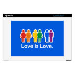 "LOVE IS LOVE BLUE.png Decal For 13"" Laptop"