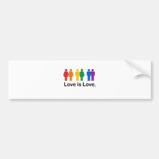 Love is Love Car Bumper Sticker