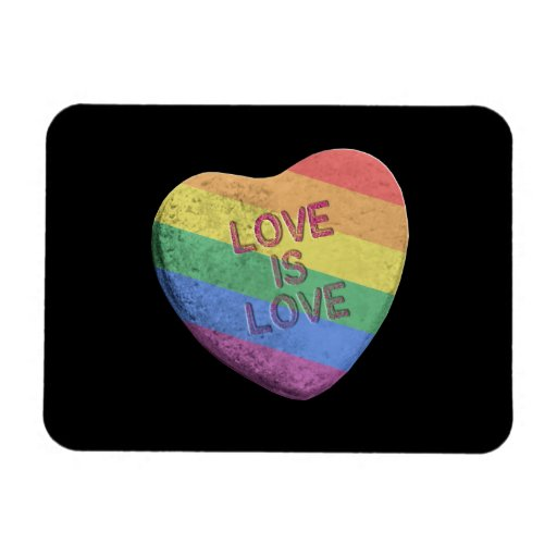 LOVE IS LOVE CANDY -.png Rectangle Magnets