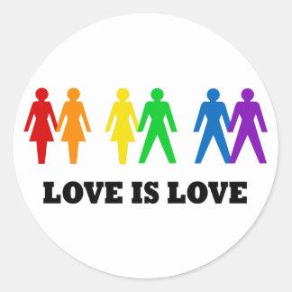 Love is Love Classic Round Sticker