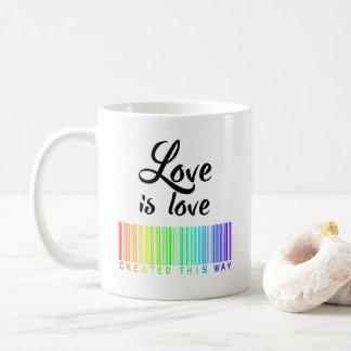Love is Love Coffee Mug Created This Way LGBTQ