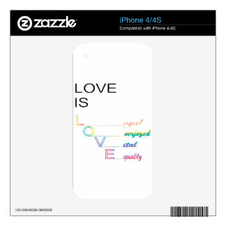 Love is Love Decals For iPhone 4