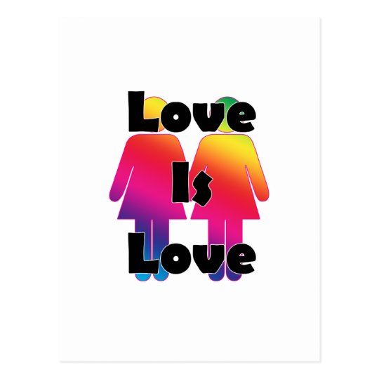 Love is Love Female [Support] Postcard