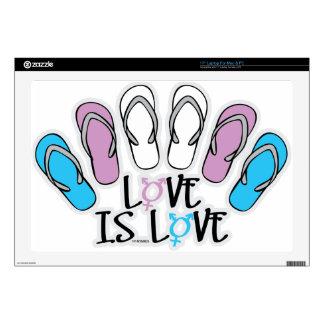 "Love Is Love Flip Flops Transgender 17"" Laptop Skin"
