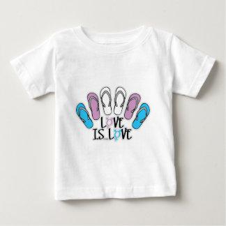 Love Is Love Flip Flops Transgender Baby T-Shirt