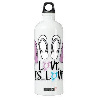 Love Is Love Flip Flops Transgender Water Bottle