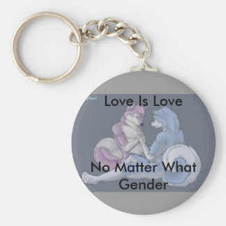 Love is love gay furry keychain