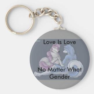 Love is love gay furry keychain