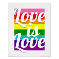Love is Love Gay Pride Motivational Remix Poster