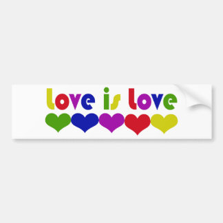 Love is Love Gay Rights Bumper Sticker
