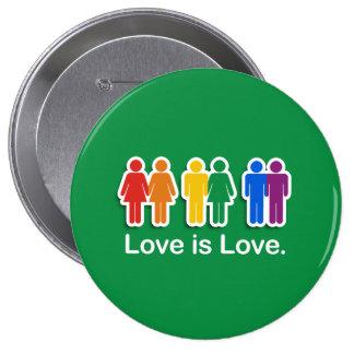 LOVE IS LOVE GREEN PINS