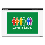 LOVE IS LOVE GREEN.png Decal For Laptop