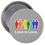 LOVE IS LOVE GREY PINBACK BUTTONS
