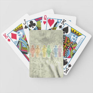 LOVE IS LOVE GREY.png Bicycle Playing Cards