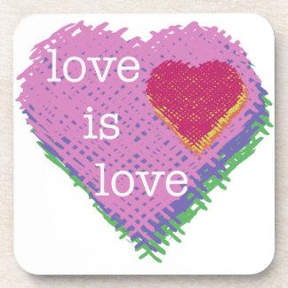 Love is Love Heart Coaster