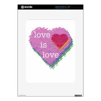 Love is Love Heart iPad Skin