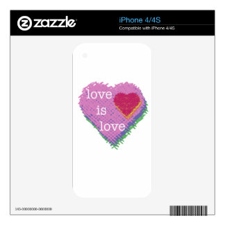 Love is Love Heart iPhone 4/4s case Decal For iPhone 4