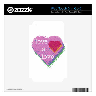 Love is Love Heart iPod Touch (4th Gen) Skin Skin For iPod Touch 4G