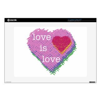 Love is Love Heart Macbook Skin