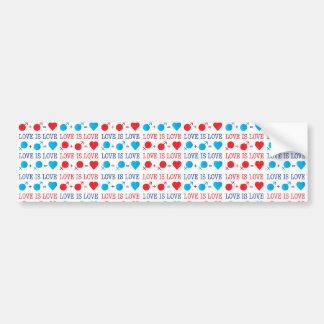 LOVE is LOVE II Bumper Sticker