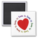 love is love is love ... 2 inch square magnet