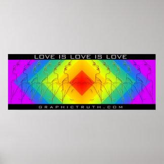 Love Is Love Is Love banner Print