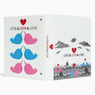 LOVE is LOVE is LOVE.  Narwhals Binder