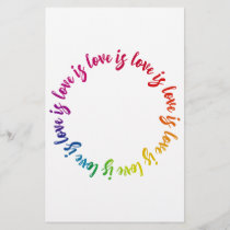 Love is love is love rainbow circle
