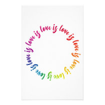 Love is love is love rainbow circle stationery
