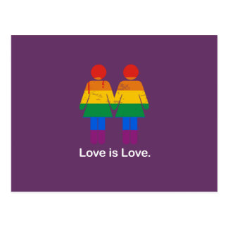 LOVE IS LOVE LESBIAN COUPLE - png Post Card