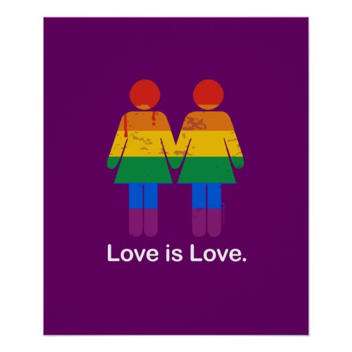 LOVE IS LOVE LESBIAN COUPLE -.png Poster