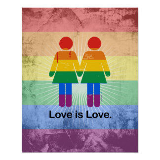 LOVE IS LOVE LESBIAN COUPLE.png Poster