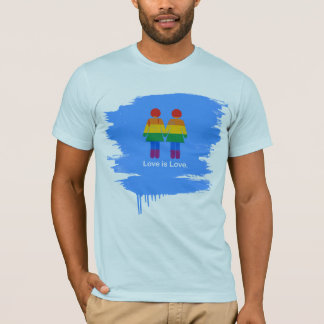 LOVE IS LOVE LESBIAN COUPLE -.png T-Shirt