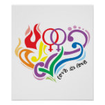 Love Is Love: Lesbian Poster