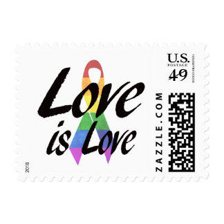 Love is Love LGBT Awareness Postage Stamp