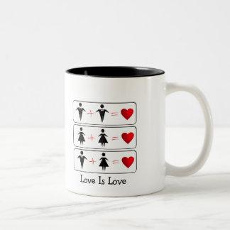 Love Is Love (LGBTQ) Two-Tone Coffee Mug