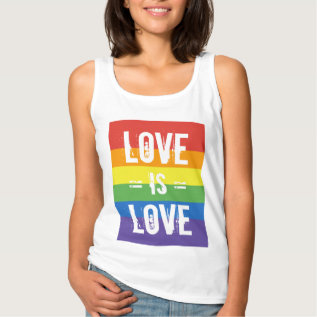 Love Is Love - Love Equality Rainbow Flag Tank Top at Zazzle