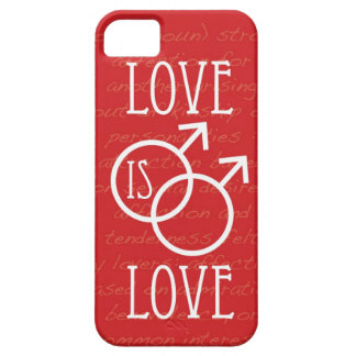 Love is Love (Male) iPhone SE/5/5s Case