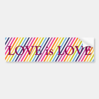 LOVE is LOVE Marriage Equality Bumper Sticker