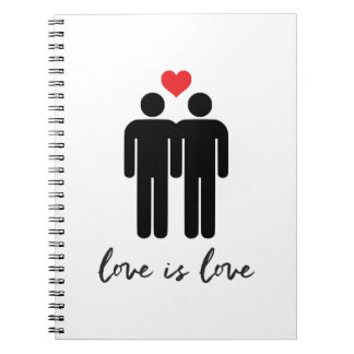 Love is Love (Men) + Heart Notebook