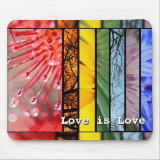Love is Love Nature Rainbow LGBT Pride Symbol Mouse Pad
