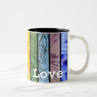 Love is Love Nature Rainbow LGBT Pride Symbol Two-Tone Coffee Mug