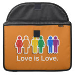 LOVE IS LOVE ORANGE SLEEVES FOR MacBook PRO