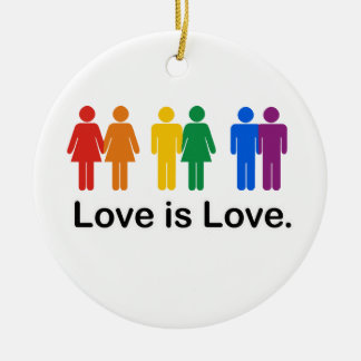 Love is Love. Christmas Ornament