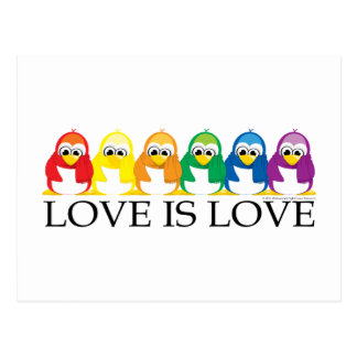 Love Is Love: Penguins Post Cards