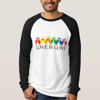 Love Is Love: Penguins T Shirt