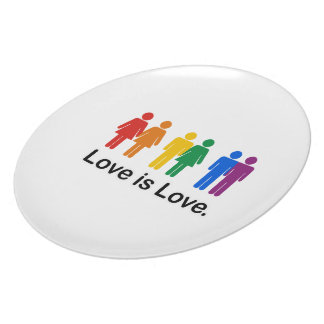 Love is Love. Dinner Plate