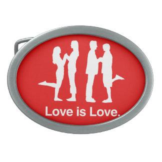 LOVE IS LOVE - .png Oval Belt Buckles