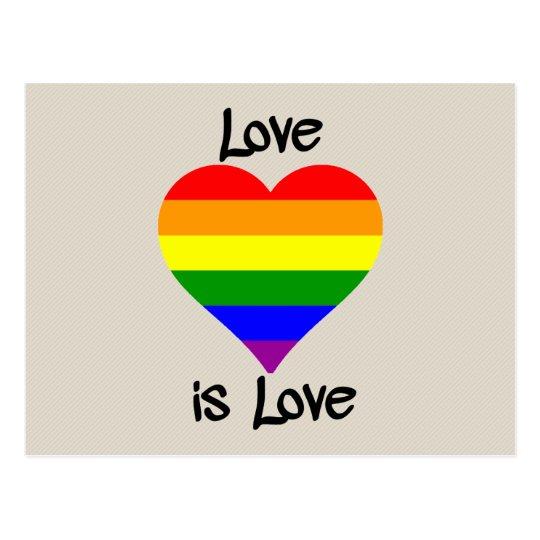 Love Is Love Postcard