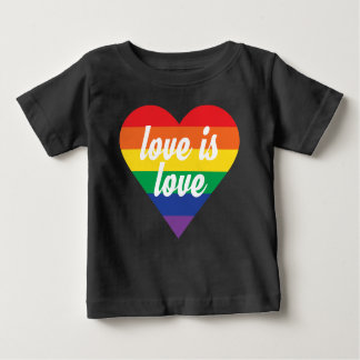 Love is Love Pride Heart Baby Shirt